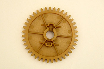 Plastic gears for applications inside of internal combustion